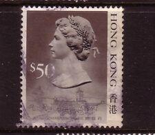 HONG KONG....  1989 $50 used....no shadow under the chin