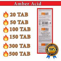 AMBER ACID |Succinic Acid 10 - 500 TAB| EXP DATE 06/2022 | Succinic Acid 🔥