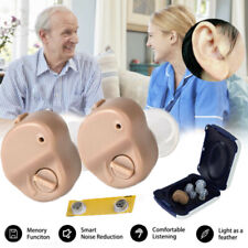 2* Mini invisible Hearing Aid Digital Hearing Aids Sound Voice Amplifier In-Ear