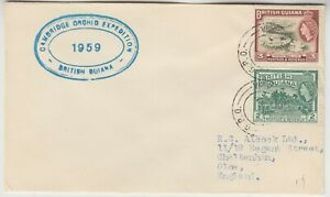 BRITISH GUIANA 1959 *CAMBRIDGE ORCHID expedition to BRITISH GUIANA* cover
