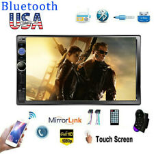 """7"""" Car Stereo Radio Double 2Din Bluetooth Audio Touch Screen USB BT FM AUX"""