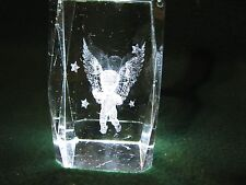 Crystal Cube With An Angel