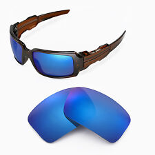Walleva Polarized Ice Blue Replacement Lenses For Oakley Oil Drum II Sunglasses