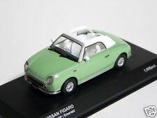## Nissan FIGARO 1:43 1/43 DieCast Model Opened Emerald Kyosho NEW MEGA RARE ##