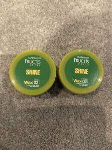 2 Pots of Garnier Fructis Surf Style Shine 02 Hair Wax 75ml