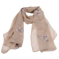 Comfort Women's Fashion Floral Long Neck Scarves Vintage Embroidery Wrap Shawl