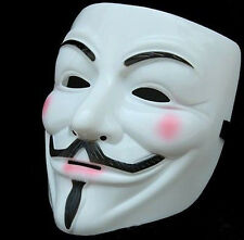 Face Mask V For Vendetta Anonymous Guy Fawkes Cosplay Fancy Halloween Masquerade