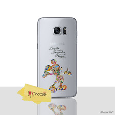 Fan Art Case/cover Samsung Galaxy S6 Screen Protector / Silicone Disney Quote