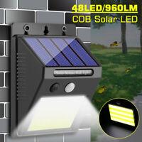 48 LED COB Solar Power Wall Light PIR Motion Sensor Garden Waterproof