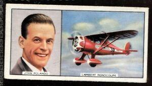 Tobacco Card, Carreras, FAMOUS AIRMEN & AIRWOMEN, 1936, John Polando, #37