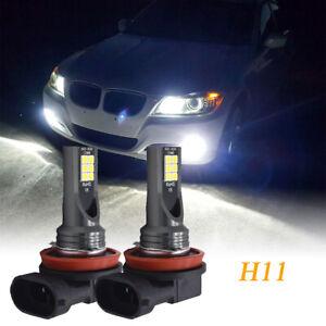 2tlg Für BMW 5er F10 F11 LED H11 Nebelscheinwerfer 6000K Super Weiß H9 H8
