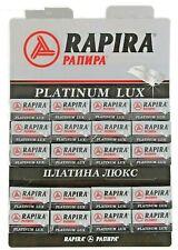 CM 100 Razor Blades Rapira Platinum Lux Double Edge