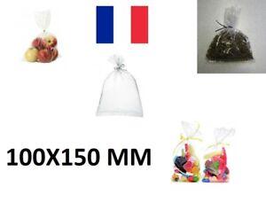 10X Sachet Poche Plastique Alimentaire PEBD 100x150mm 10x15cm Sac 50u