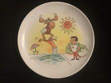 Rocky & Bullwinkle Vintage Child Melmac Plate