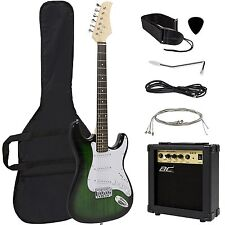 Full Size Green Electric Guitar w/Amp, Case and Accessories Package -Entry Level