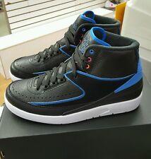 834274 014 Air Jordan 2 Retro Black/Photo Blue-White  Men's US Size 10