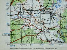 5940 Hatzenreuth, topographische Karte, 1:50.000, gedruckt 1963, ungefaltet !!