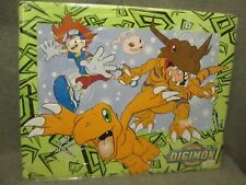 VTG/RARE 2000 DIGIMON DIGITAL MONSTER CHARACTER METAL EMBOSSED WALL POSTER NEW