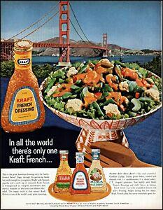 1963 Golden Gate Bridge Kraft Sald dressing french vintage photo print Ad adL37