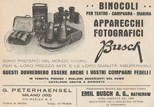 Z1631 Binocoli e Apparecchi Fotografici BUSCH - Pubblicità d'epoca - 1930 Old ad