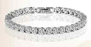 Cubic Zirconia 0.5 Carat Zircon Bracelet Platinum Plated