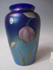 Fenton Favrene 2001 Connoisseur Collection Felicity Vase Limited Ed Kim Plauche