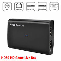 HDMI Video Capture Card 4K 30P HD 1080P 60fps Game Video Record Live Streaming