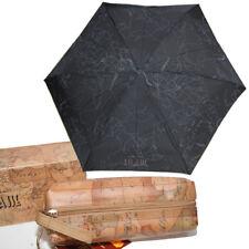 Prima Classe ombrello Alviero Martini piccolo con pochette nero geo mappa borsa