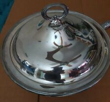 Gorham Newport Silverplate CHAFING DISH footed stand with lid pan and burner