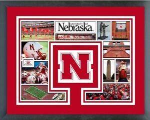 "Nebraska Cornhuskers Football Custom Matted Photo (Size: 12.5"" x 15.5"") Framed"
