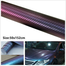 Waterproof 3D Carbon Fiber Look Vinyl Car SUV Wrap Sheet Roll Film Sticker Decal