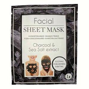 Masque Visage Charbon Beauté en Tissu Soin des Peaux Grasses Apaisant Purifiant