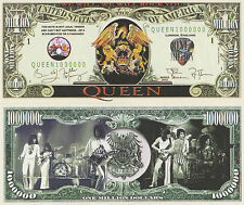 RARE: QUEEN $1 Million Novelty Note, Music. Buy 5 Get one FREE