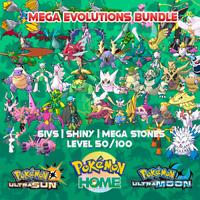 Shiny Mega Evolutions  | Pokemon Home Premium | Ultra Moon & Ultra Sun | 6IVS