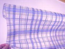 weiß blau grün Karierter Polyester Mischgewebe Stoff Meterware