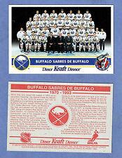 1992-93 Kraft Dinner (Canada) Buffalo Sabres Factory Redemption Postcard