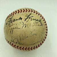 1935 All Star Game Team Signed Baseball Mel Ott Arky Vaughan Paul Waner JSA COA