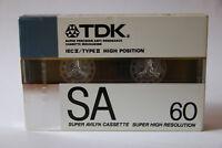 TDK SA 60 Audiokassette, Type II, Chrome, OVP, 1988-1989, Tape, Compact Cassette