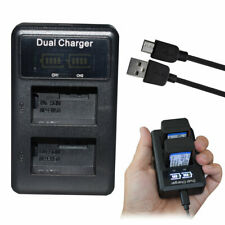 LCD Dual USBNP-FW50 Battery Charger for Sony ILCE-7 A7s A7R2 A5100 A6300 5T 5R