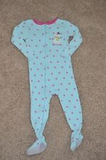 Just One You by Carter's 2T Snowman Lightweight Zip Up Blue Pajamas