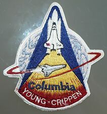 RARE 1981 STS 1 FIRST SHUTTLE LAUNCH SPACE SHUTTLE COLUMBIA PATCH YOUNG CRIPPEN
