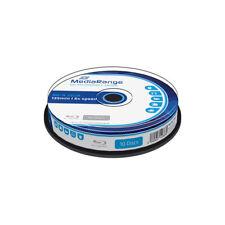Blu-ray BD-R SL 25GB 6X MediaRange Tarrina 10 uds