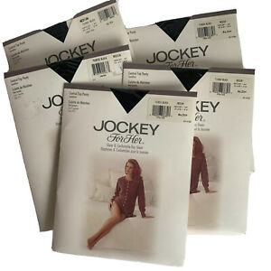 Lot Jockey For Her Sheer Comfort Day control top Pantyhse Tuxedo Black med 7952