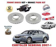 FOR CHRYSLER SEBRING 2.0 DT 2.4 2.7 V6 2008--> FRONT BRAKE DISCS SET + PADS KIT