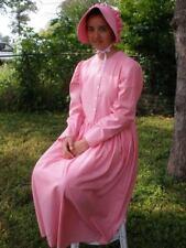Ladies Prairie Pioneer Costume Dress & bonnet set pink size 16