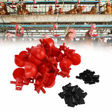 20Pcs/Set Poultry Drinker Chicken Hanging Cup Drinking Fountains Water Bowl