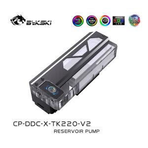 Bykski CP-DDC-X-TK220-V2 Rectangular Reservoir 12v RGB 2021 NEW & FAST SHIP