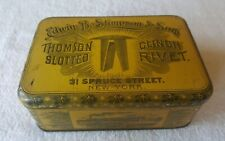 Late 1800s tin litho EDWIN B. SLIMPSON tin  rivets for horse harnesses NEW YORK