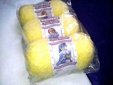 Discontinued Bernat Baby Boucle Yarn 3 - 3.5 Oz Factory Packaged Soft Lemon