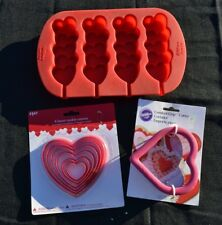 Valentine's Day Assorted Cookie Cutter/Hearts Pop Lot